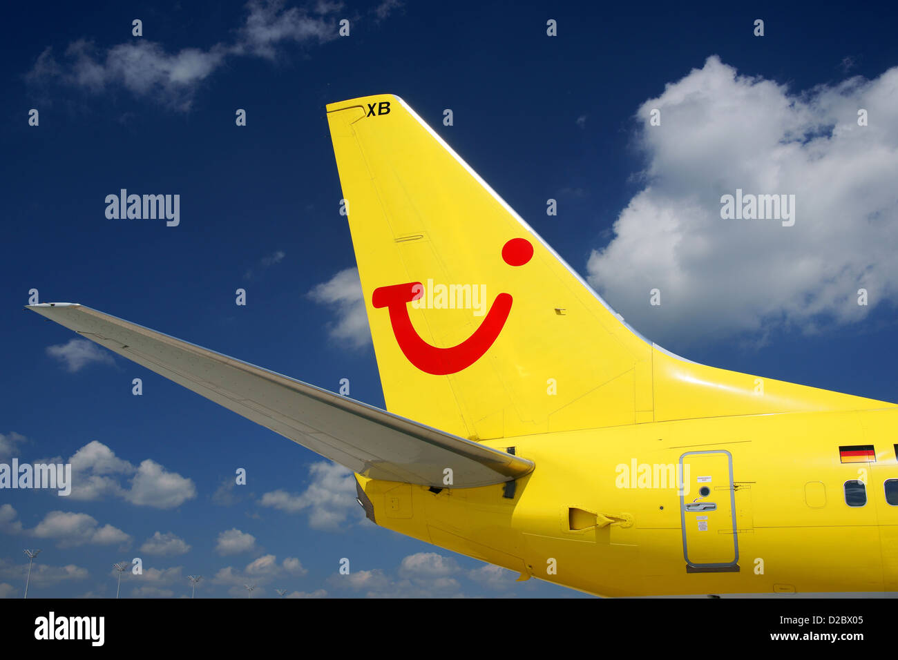Tui Fly, Boeing B 737-800, wing, winglet, Logo, Airlines, Aircraft, - Stock Image