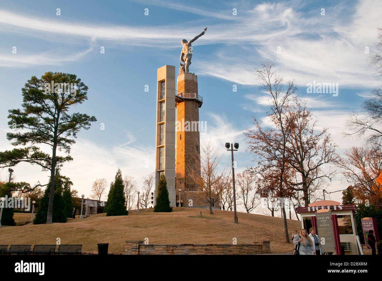 The worlds largest cast iron statue Vulcan statue on Red Mountain, Birmingham, Alabama, USA, North America Stock Photo
