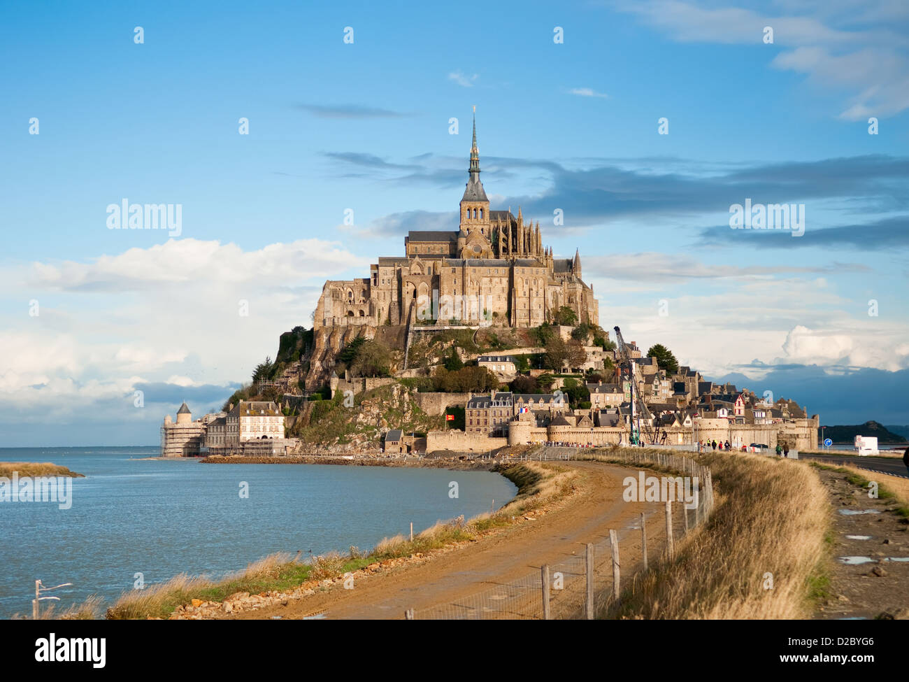 Mont Saint-Michel, Normandy, France. One of the most visited tourist sites in France. - Stock Image