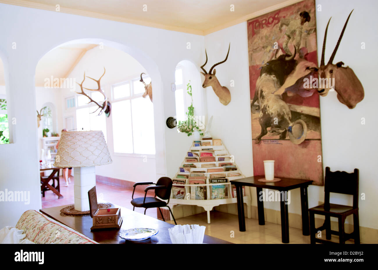 Historical Home Of Ernest Hemingway In Havana, Cuba Stock Photo