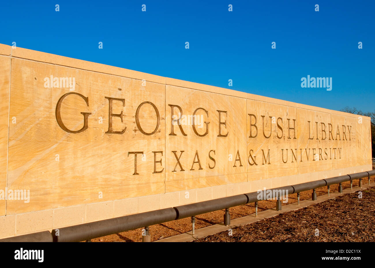 George H.W. Bush Library At Texas A&M University In College Station Texas - Stock Image