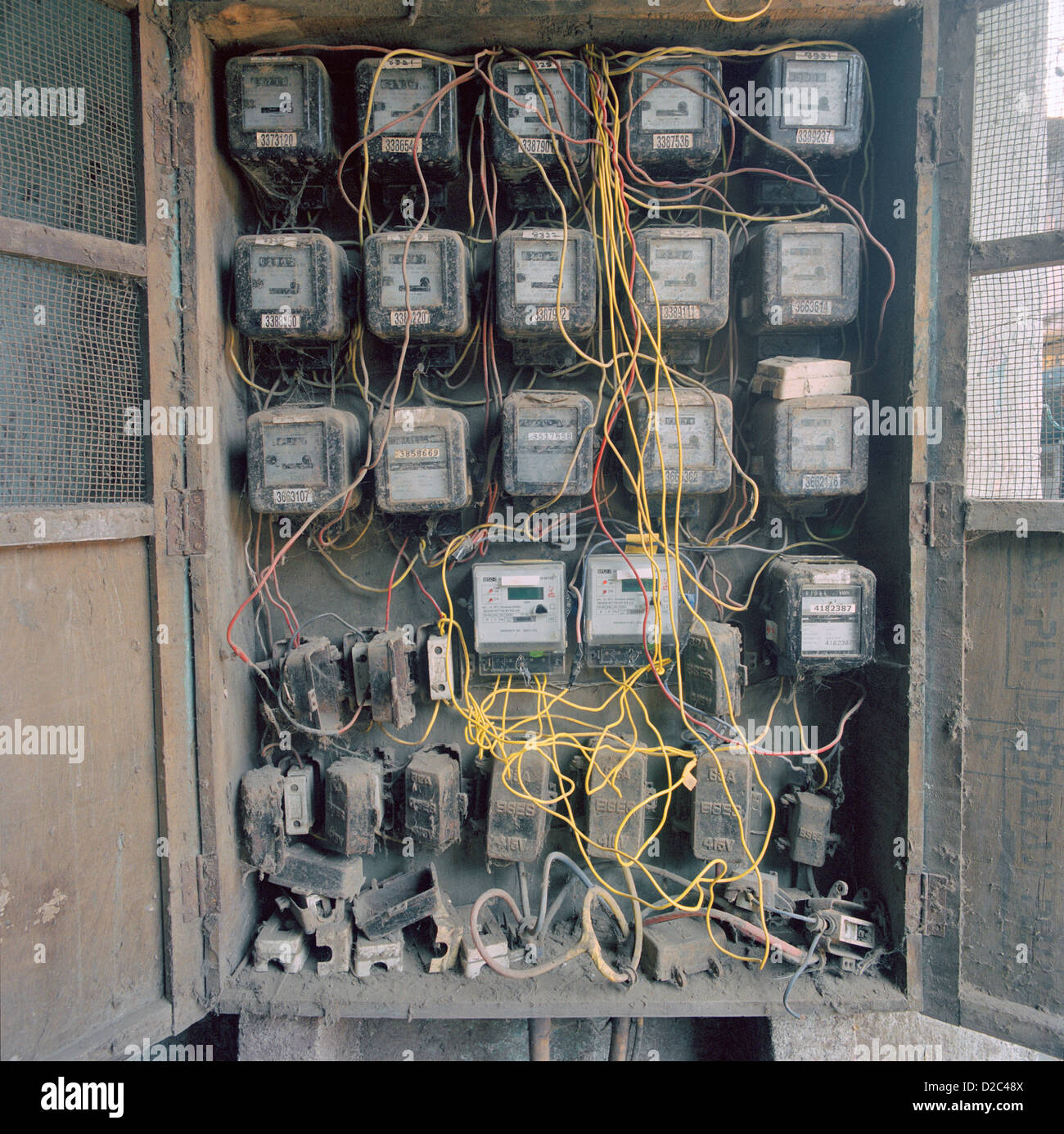 Group Electric Meters In Slum Electricity Is Also One Most Sought ...