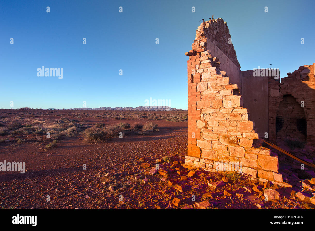 Outback Ruins in Australia - Stock Image
