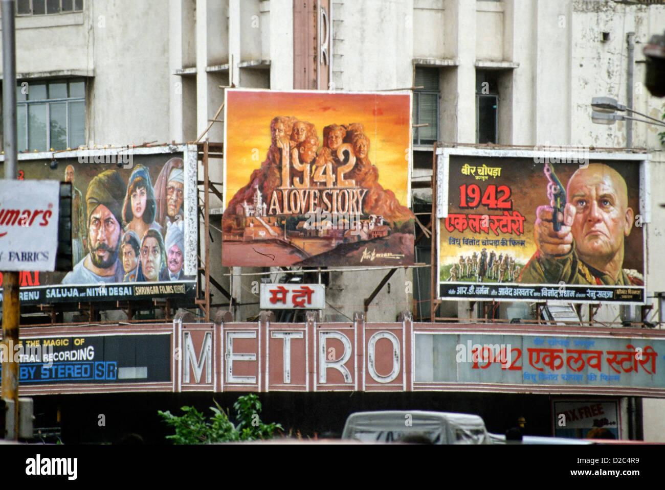 Film Poster Of 1942 A Love Story At Metro Theatre, Bombay Mumbai, Maharashtra, India - Stock Image