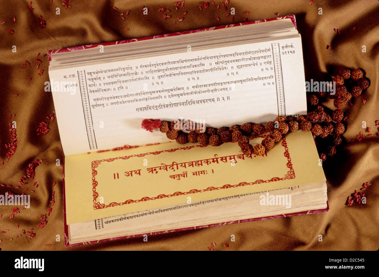 Vedas. Indian Hindu Scripture. - Stock Image