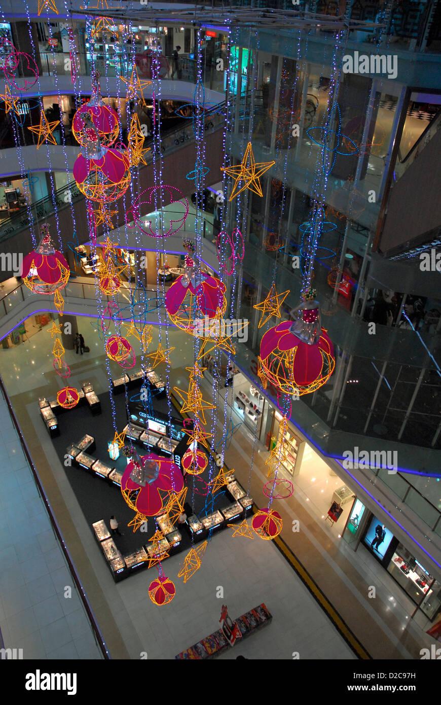 Mall, Shanghai, China. Nanjing Road. - Stock Image
