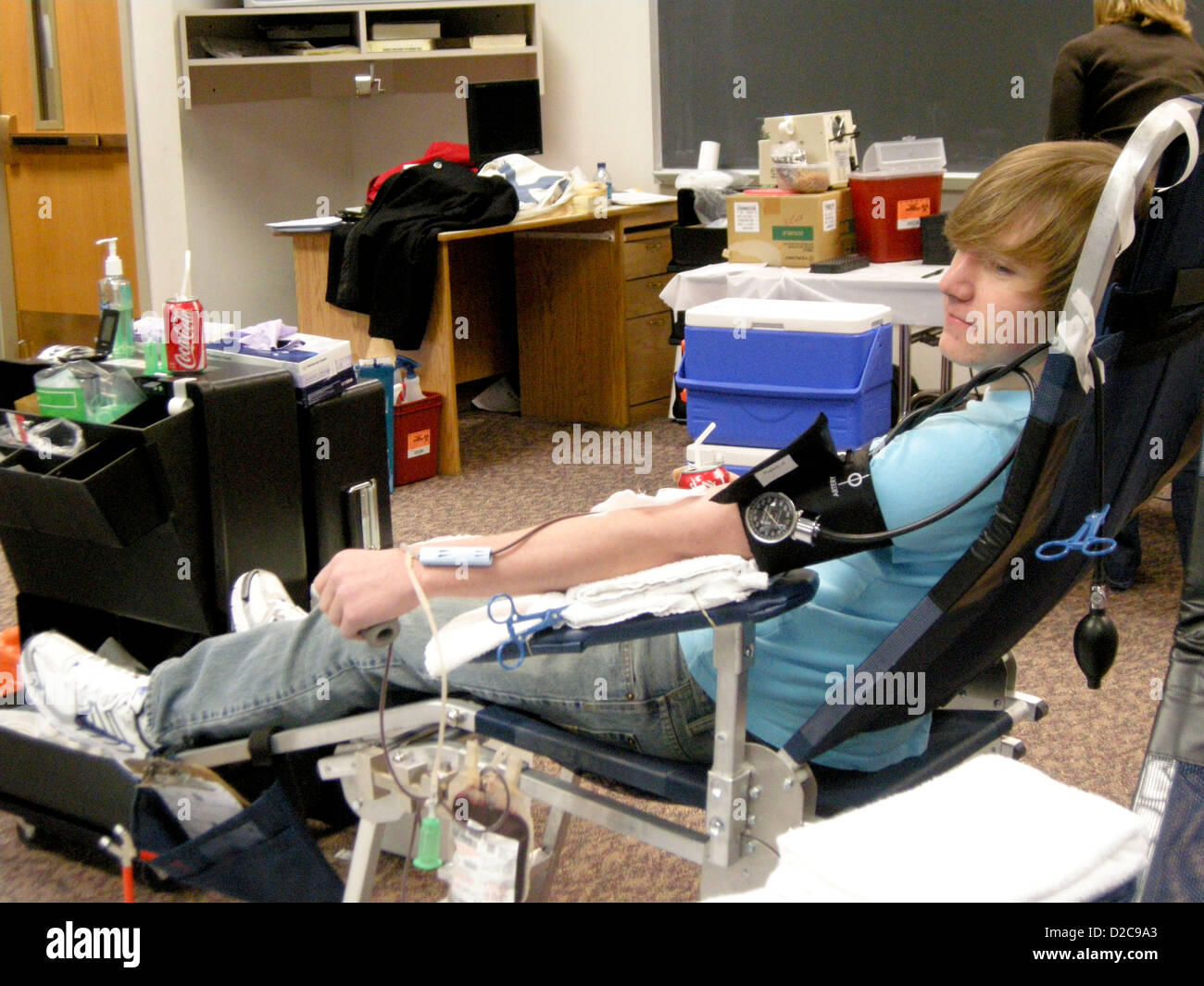 Blood Drive, Wellsville, New York - Stock Image
