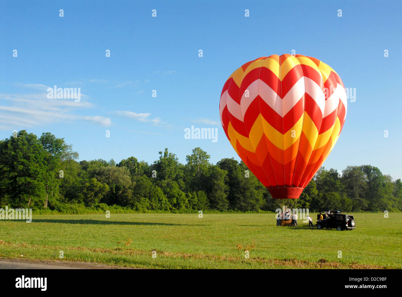 Hot Air Balloon, Wellsville, New York - Stock Image