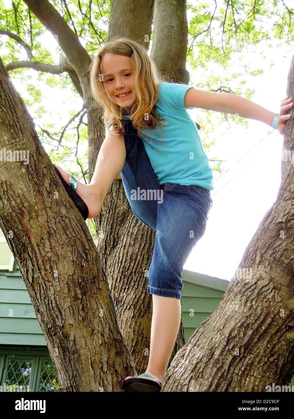 7-Year-Old Girl, Winchester, Massachusetts - Stock Image