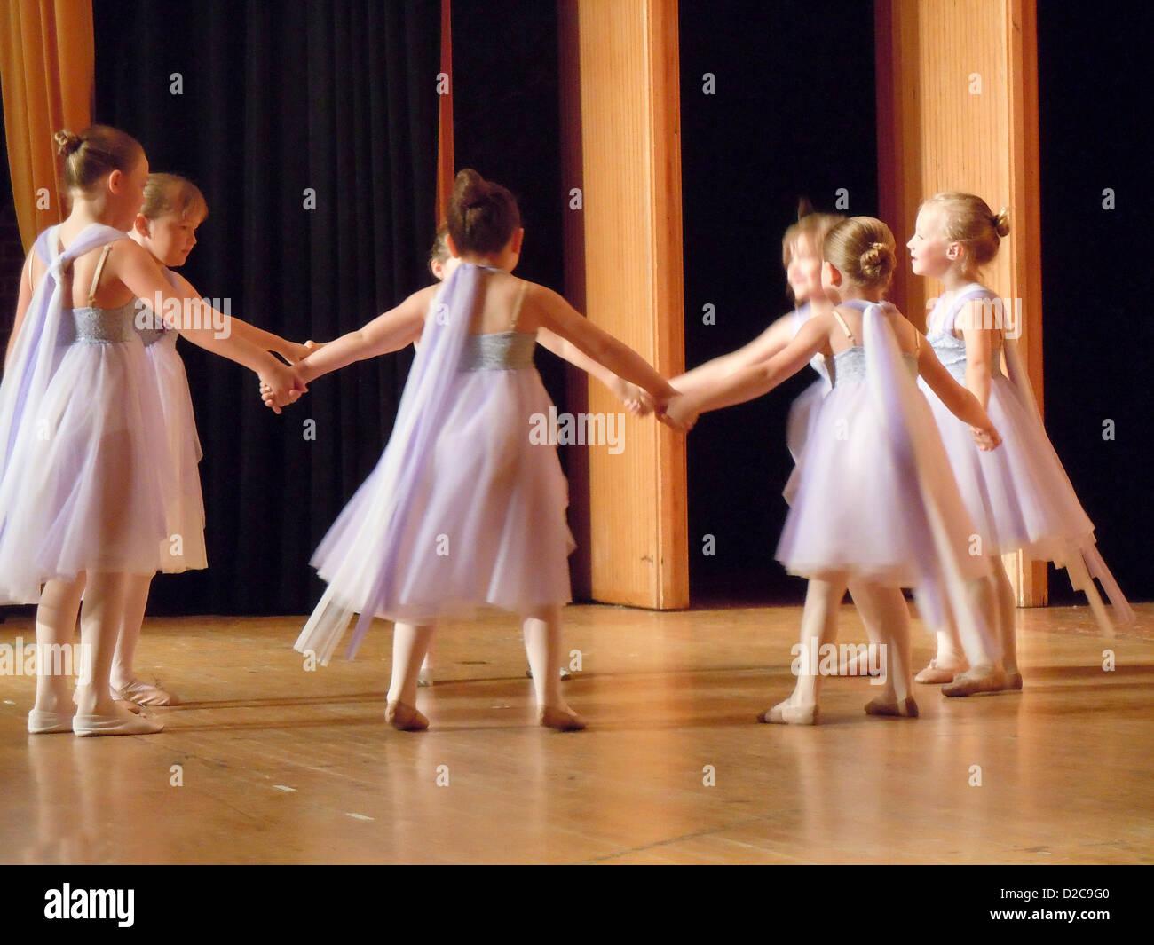 Dance Recital, Geneseo, New York - Stock Image