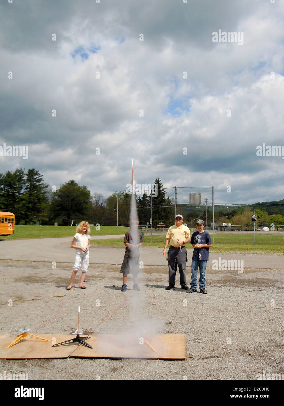 Science Class, Wellsville, New York - Stock Image