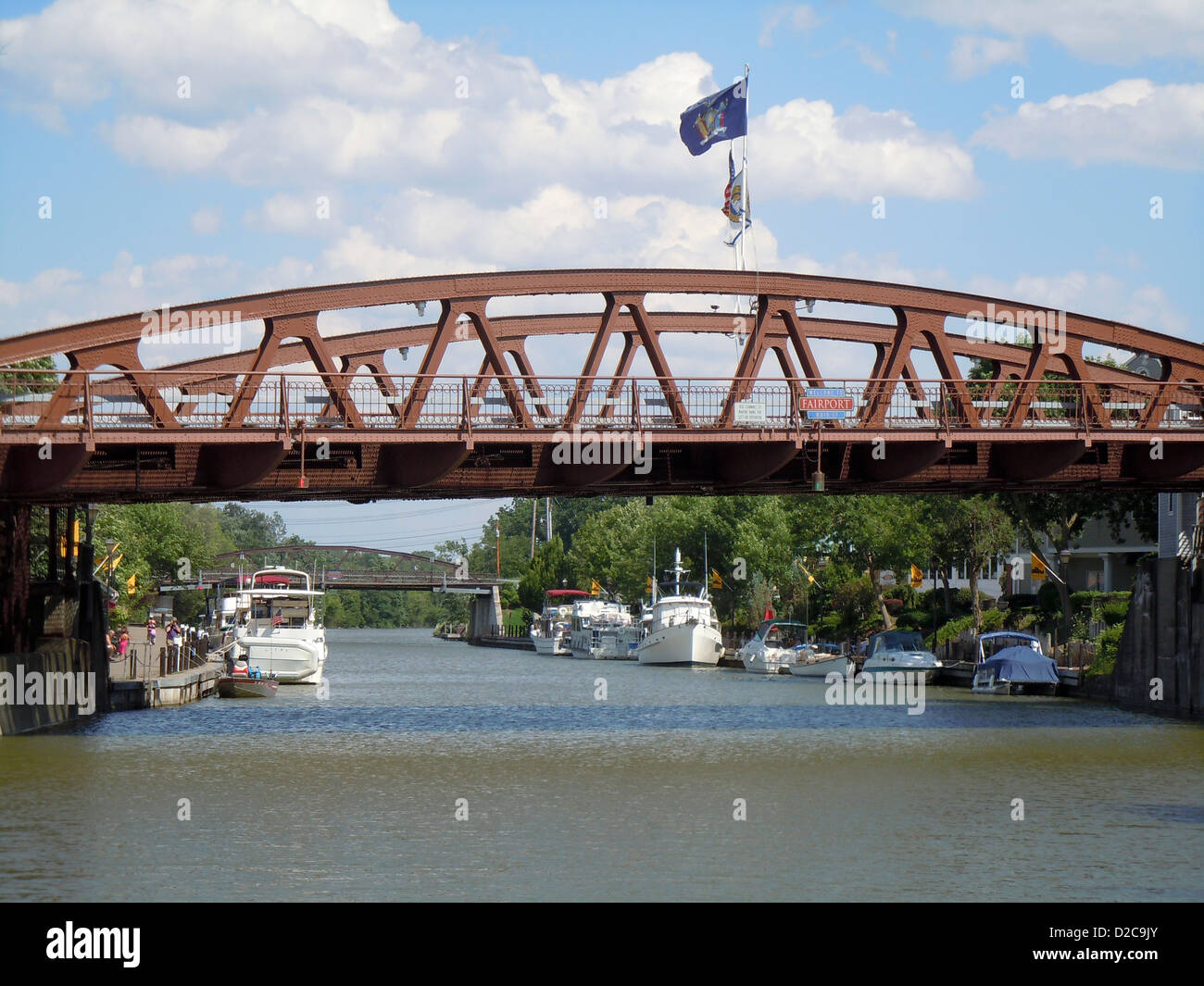 Lift Bridge, Fairport, New York - Stock Image