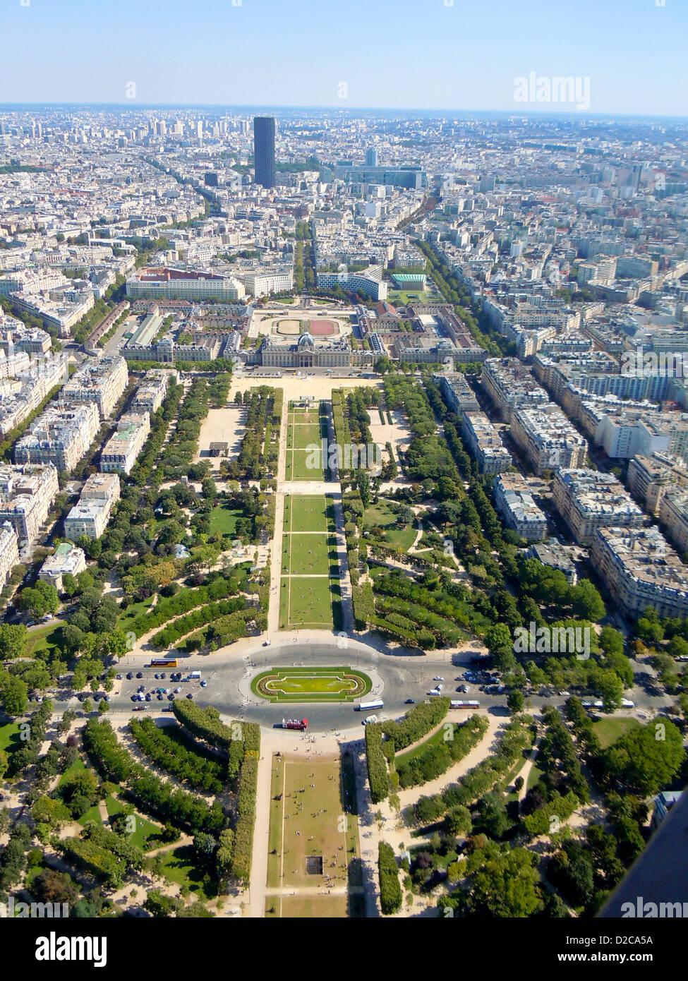 Champ De Mars, Paris, France - Stock Image