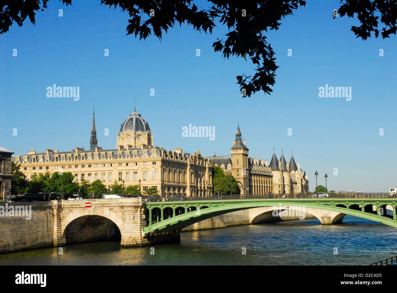 Palais De Justice, Paris, France - Stock Image