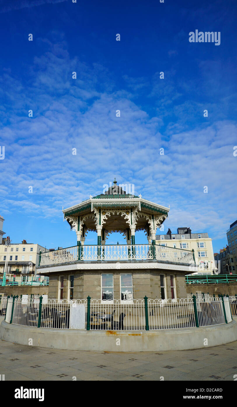 Victorian English seaside bandstand - Stock Image