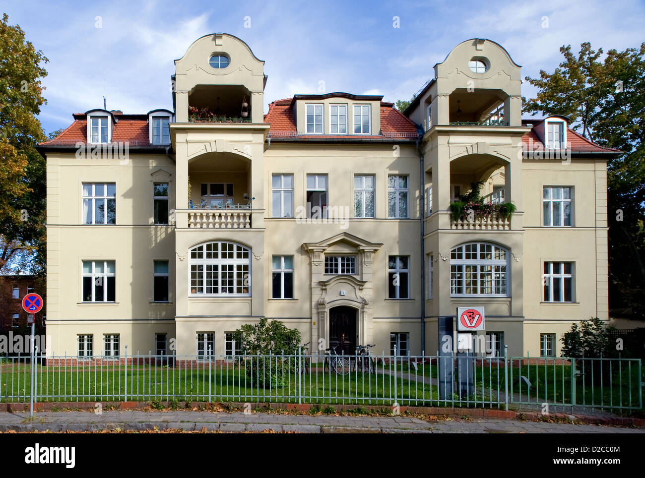 Berlin, Germany, Renovated townhouse in Berlin-Pankow - Stock Image