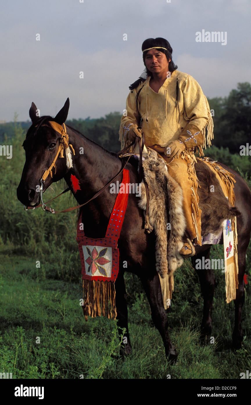 North American Indian On Horse Stock Photo Alamy
