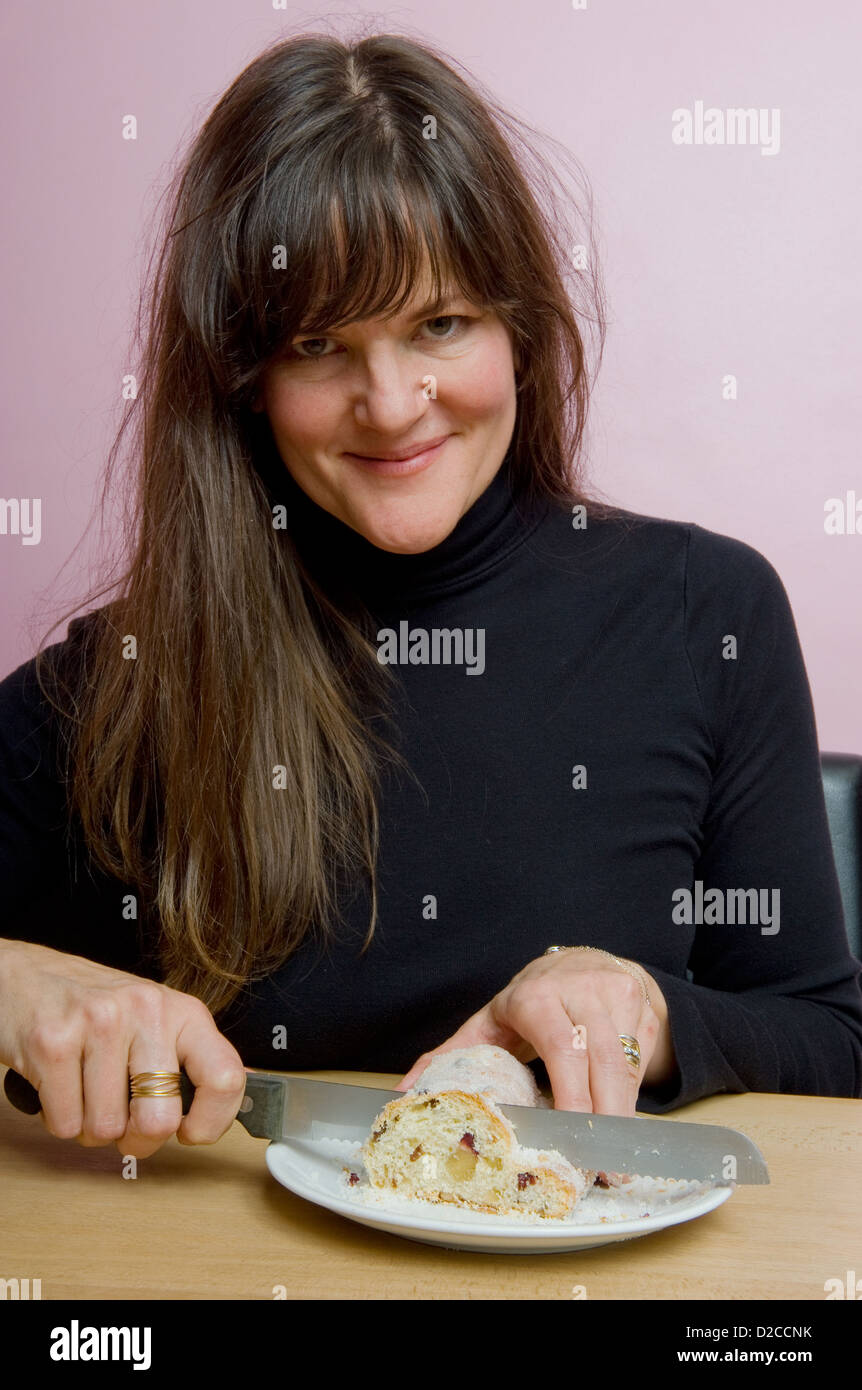 Berlin, Germany, cafe owner and author Cynthia Barcomi Stock Photo