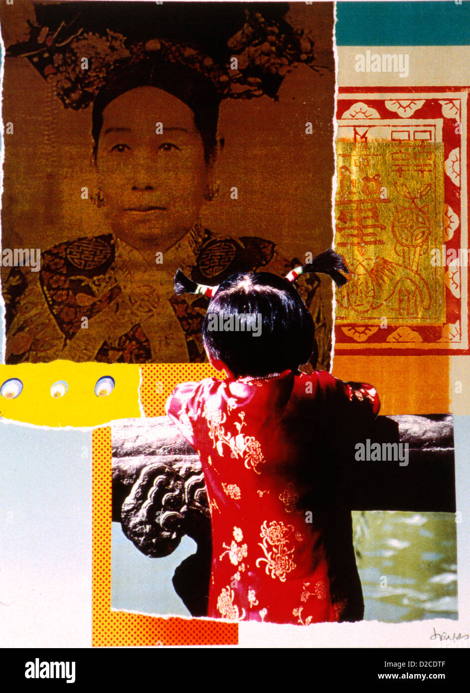Dowager Empress. Photo Collage. - Stock Image