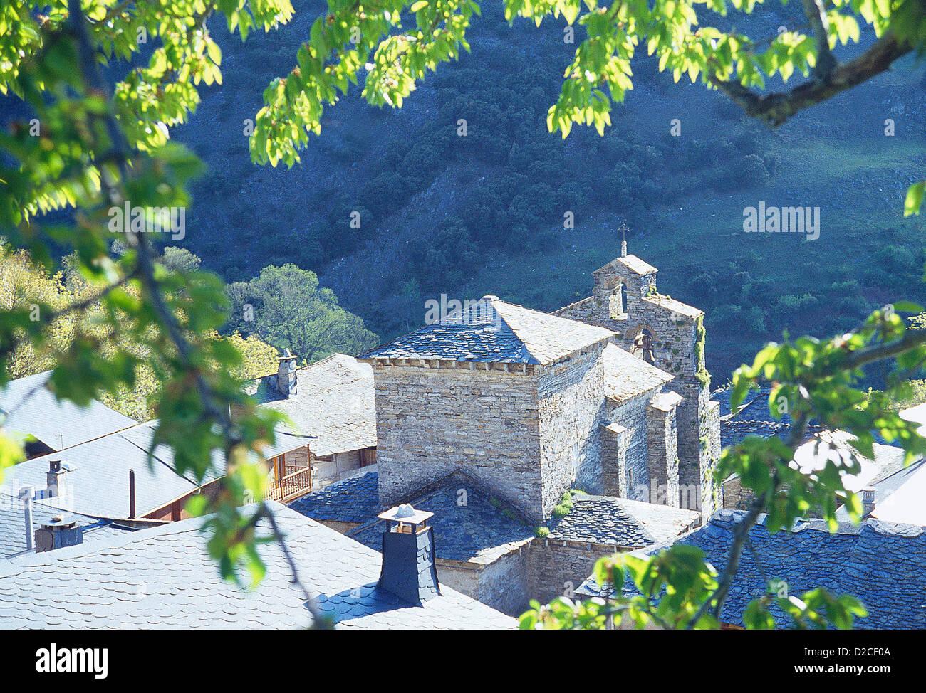 Peñalba de Santiago, Leon province, Castilla Leon, Spain. - Stock Image