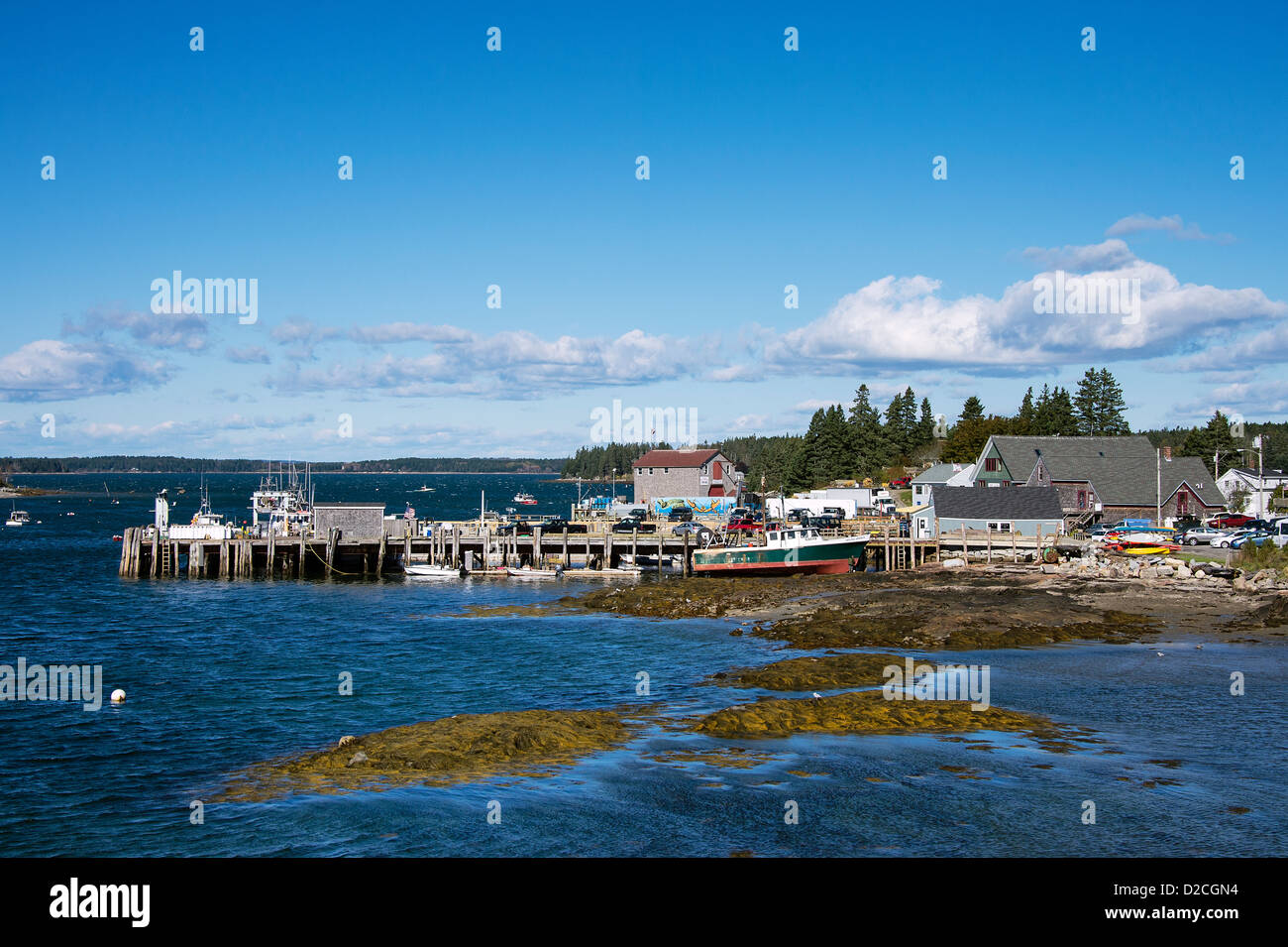 Quaint fishing village, Port Clyde, Maine, USA - Stock Image