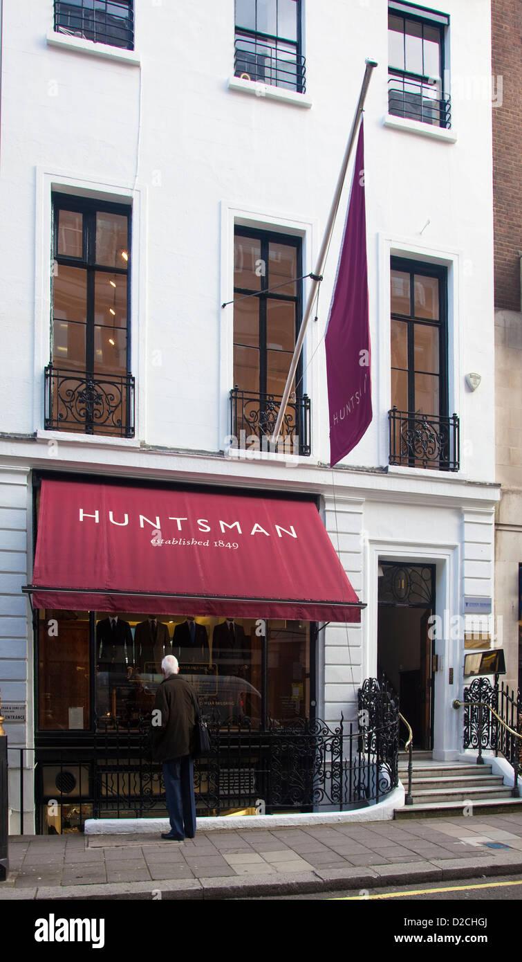 Huntsman, bespoke tailors, Savile Row, London, UK - Stock Image