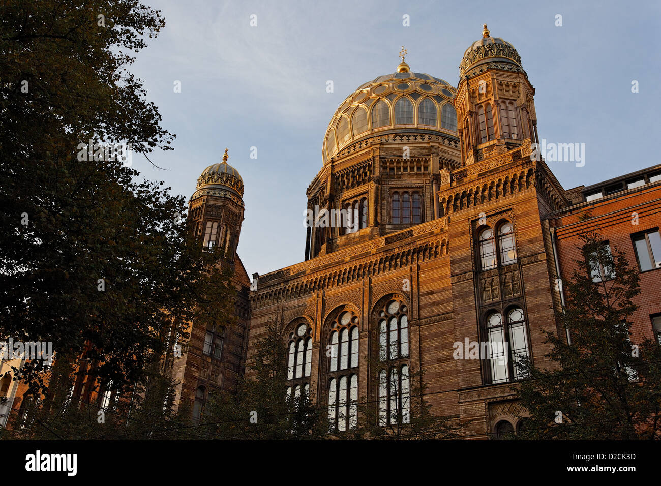 Berlin Synagogue in evening light - Stock Image
