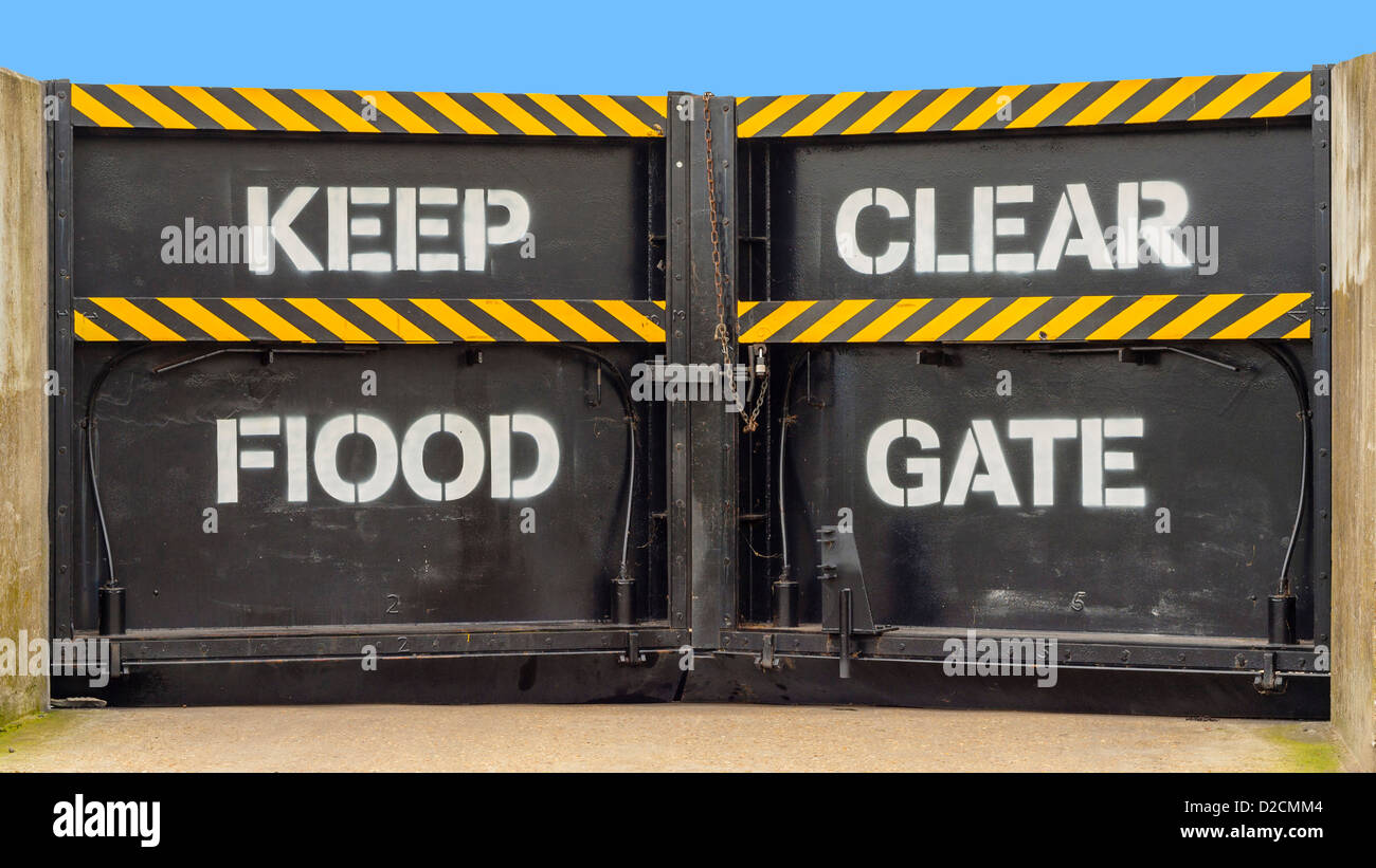 flood gate - Stock Image