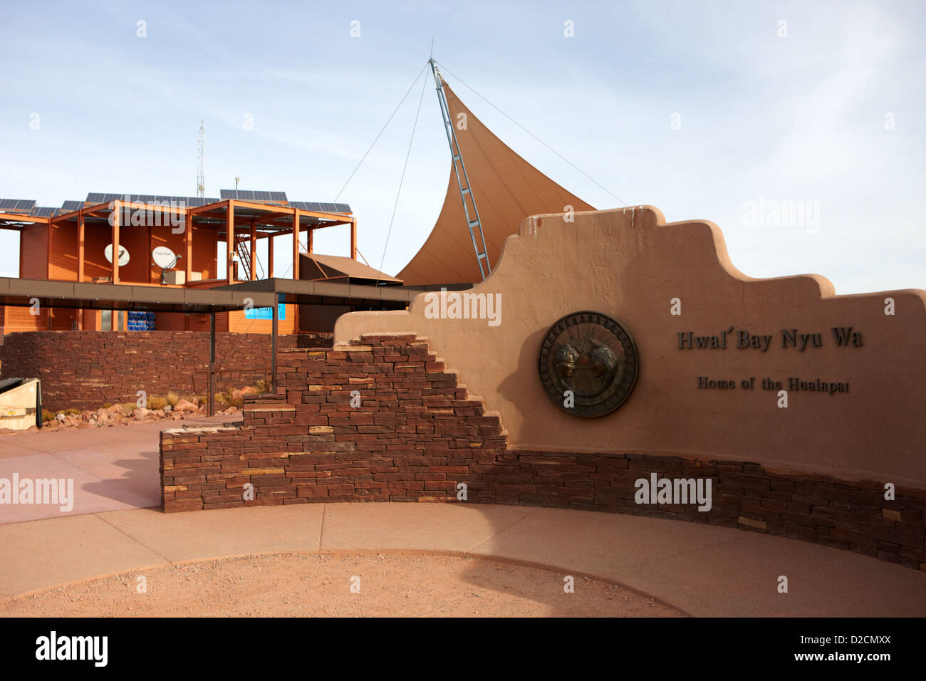home of the hualapai nation sign at guano point Arizona USA - Stock Image