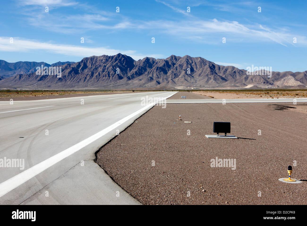 runway at boulder airport Nevada USA - Stock Image