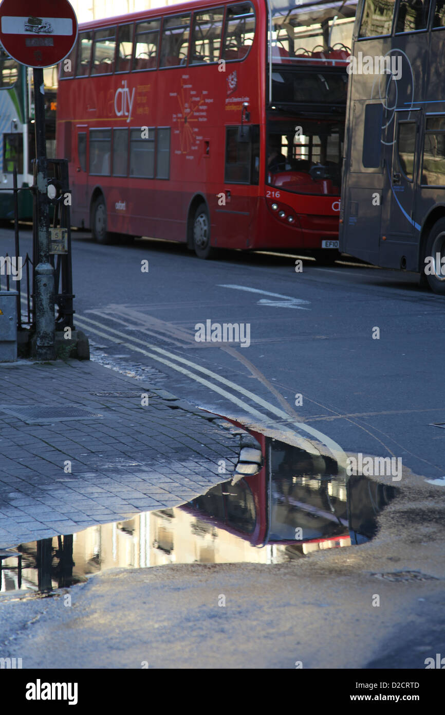 Oxford St Aldates reflections - Stock Image