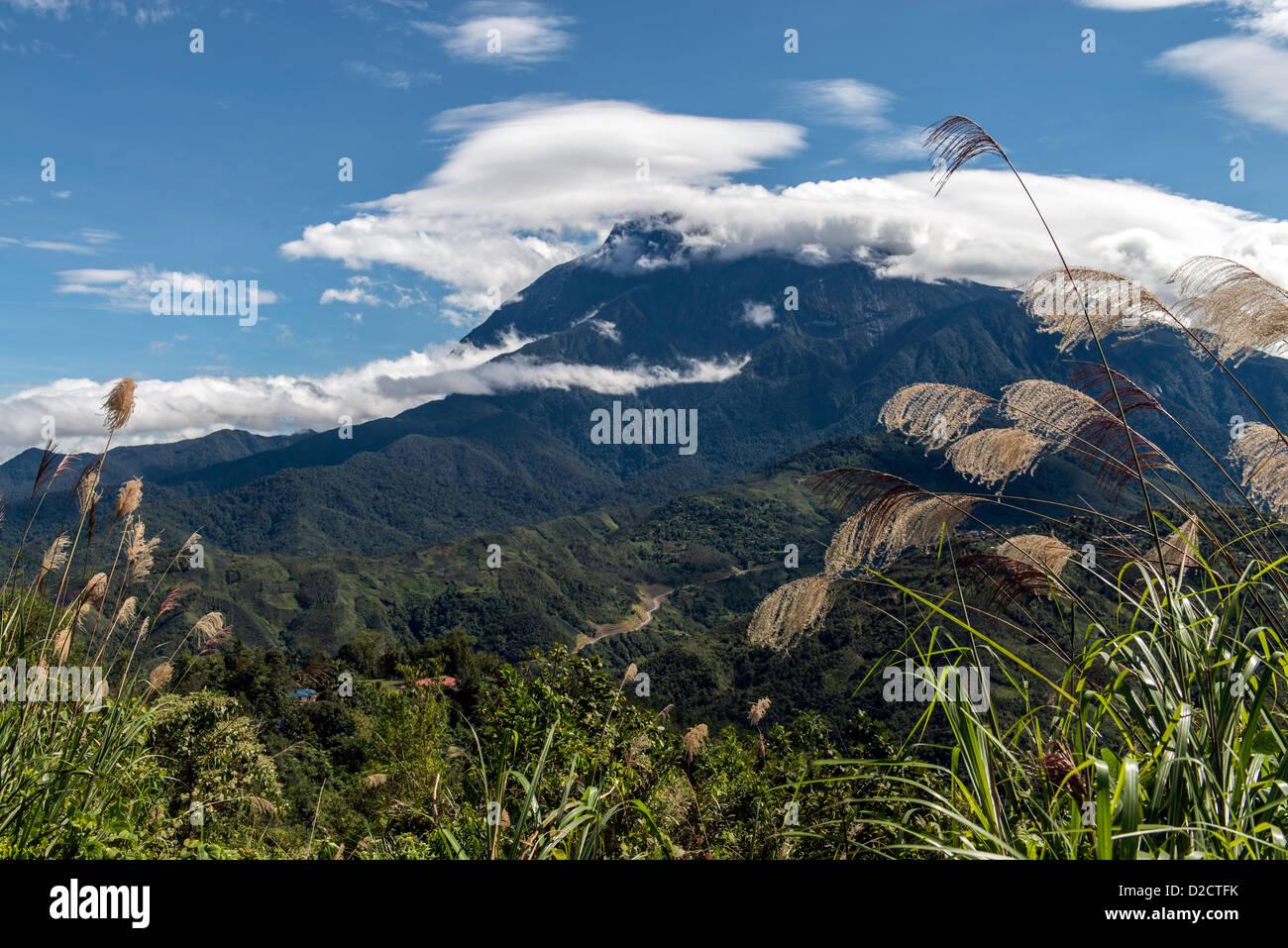 Kota Kinabalu mountain Sabah Borneo Malaysia - Stock Image