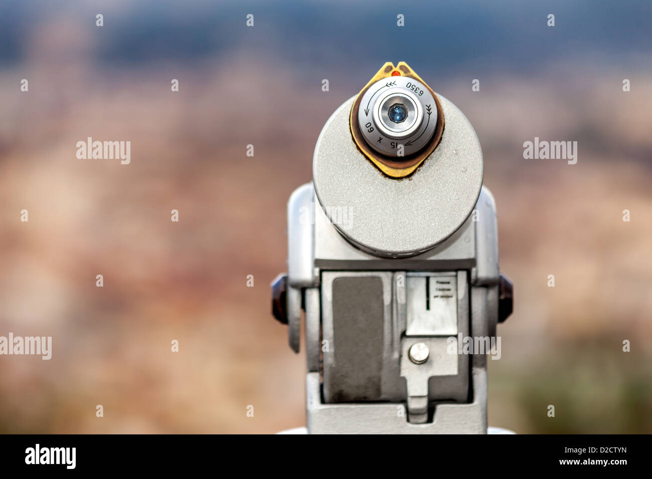 Coin Operated Telescope - Stock Image