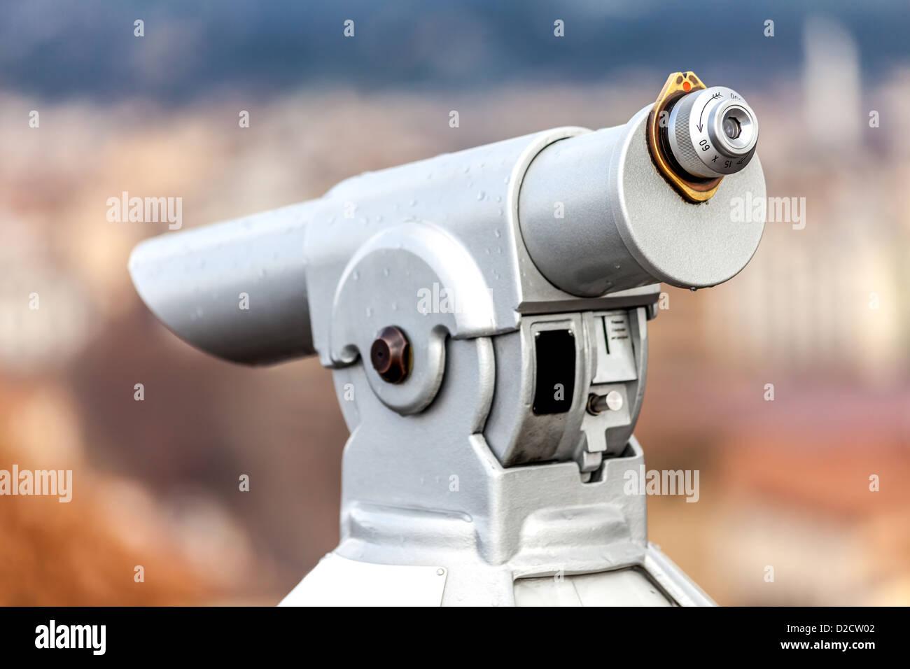 Coin Telescope - Stock Image