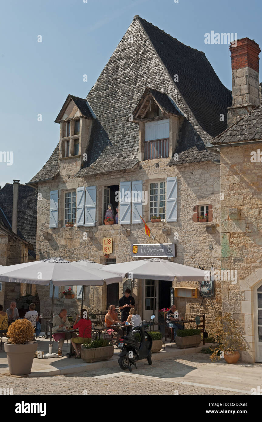 Turenne in the Correze (19) departement of France.One of Les Plus Beaux Villages de France. - Stock Image