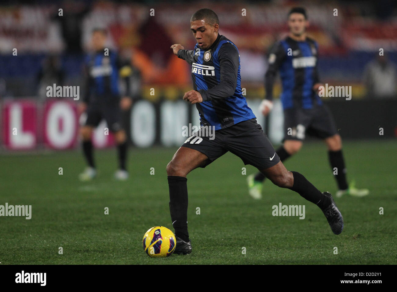 20.01.2013 Rome, Italy. Juan in action during the Serie A game between Roma and Inter Milan from the Stadio Olympico. - Stock Image