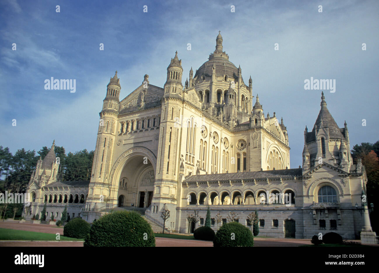 France, Normandy, Ste. Therese Basilica, Lisieux. - Stock Image
