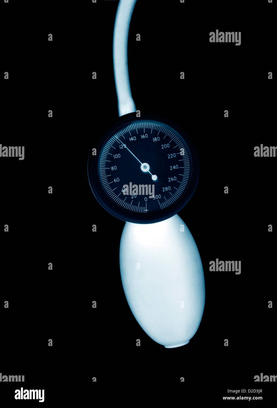 Blood pressure gauge - Stock Image
