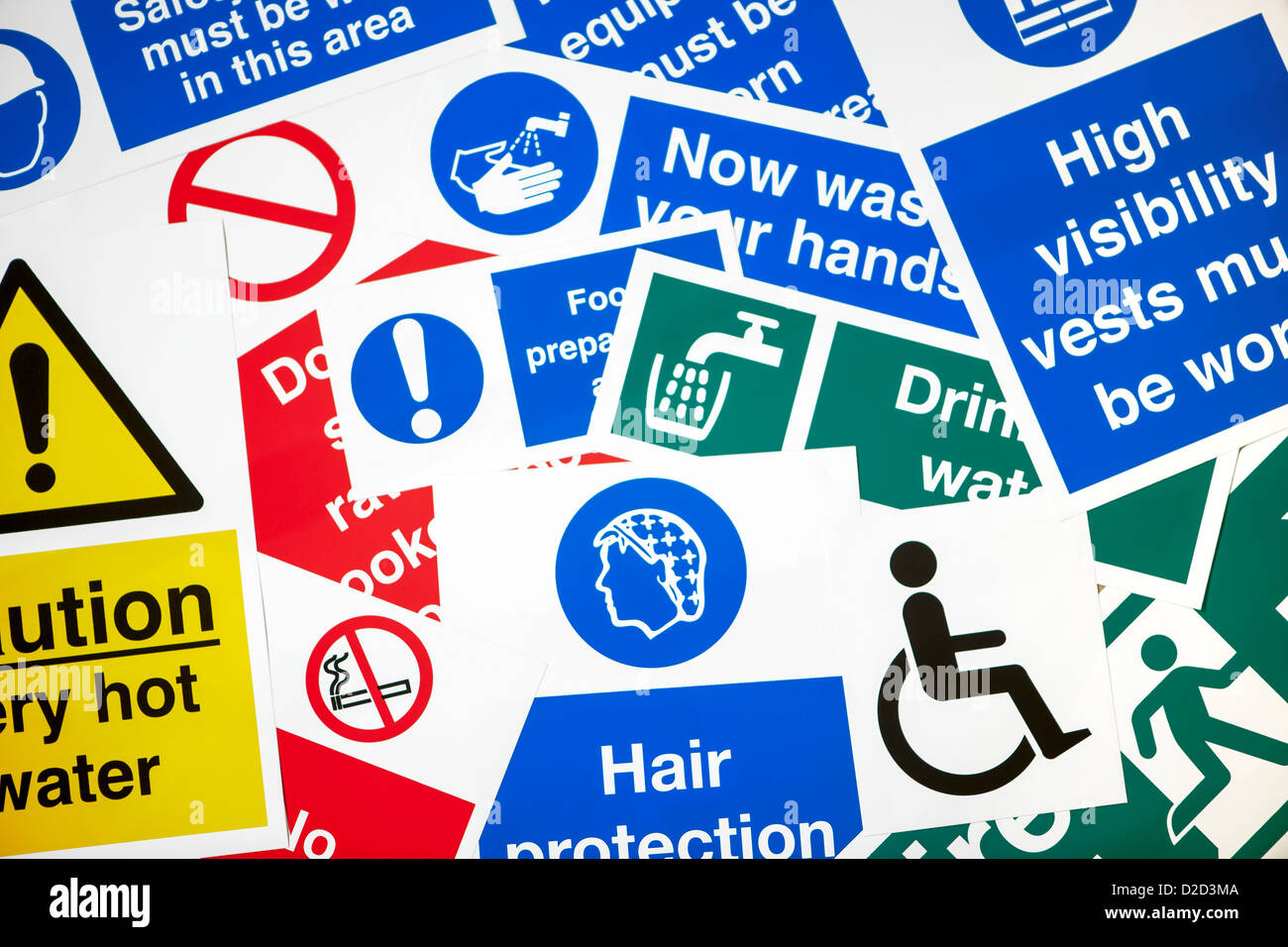 Various safety signs - Stock Image