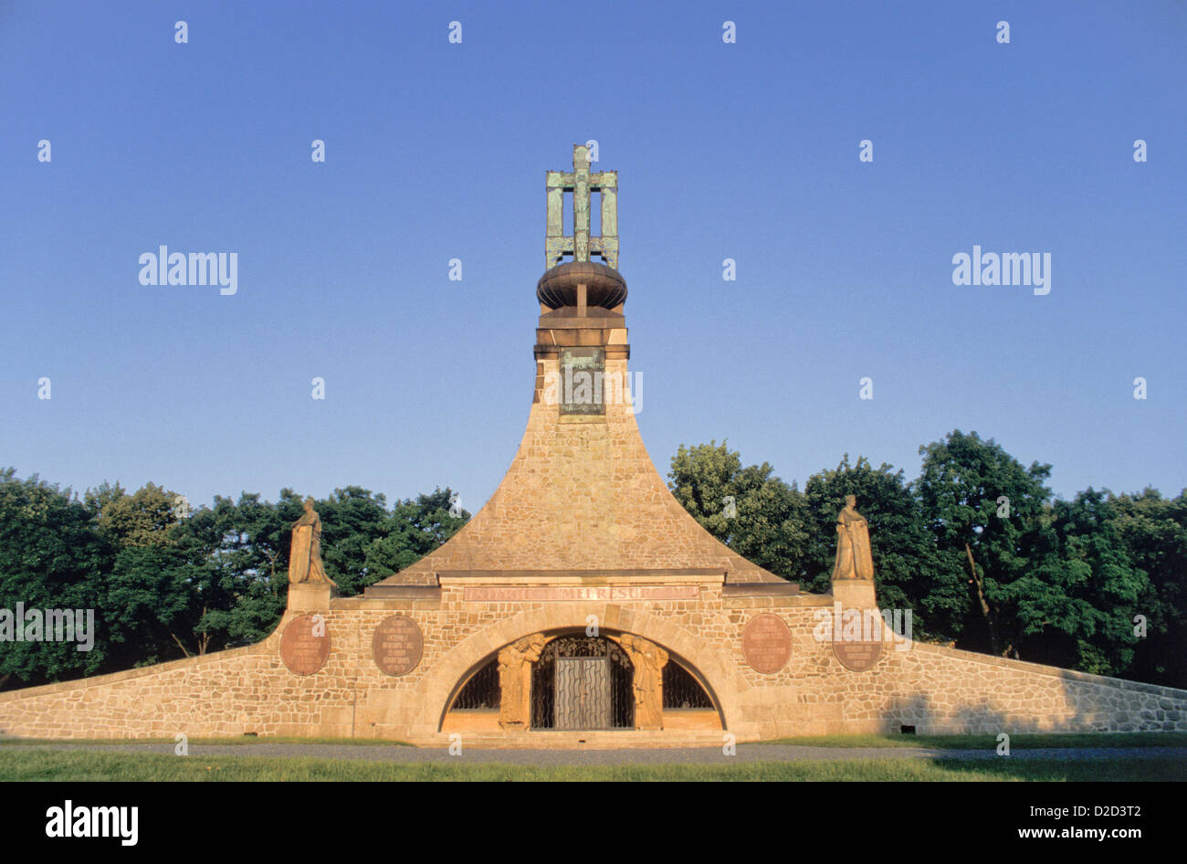 Czech Republic, Slavkov U Brna (Austerlitz). Mohyla Miru (Mound Of Peace) - Stock Image