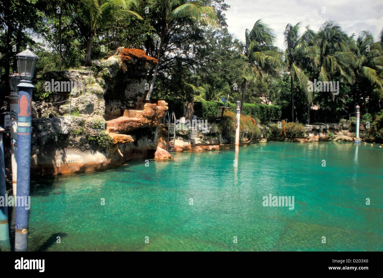 Florida. Cofloridaral Gables. Venetian Pool - Stock Image
