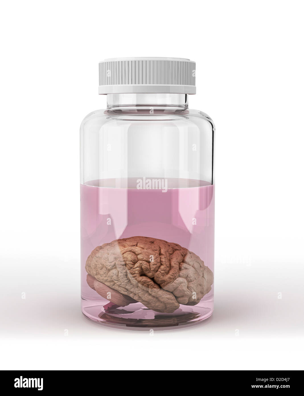 Preserved brain computer artwork - Stock Image