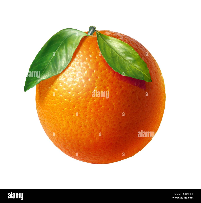 Orange computer artwork - Stock Image