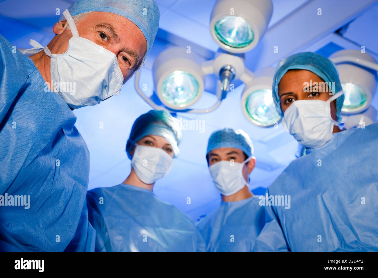 MODEL RELEASED Surgical team - Stock Image