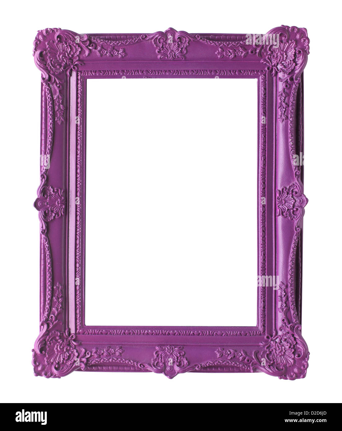 Empty picture frame cut out white background - Stock Image