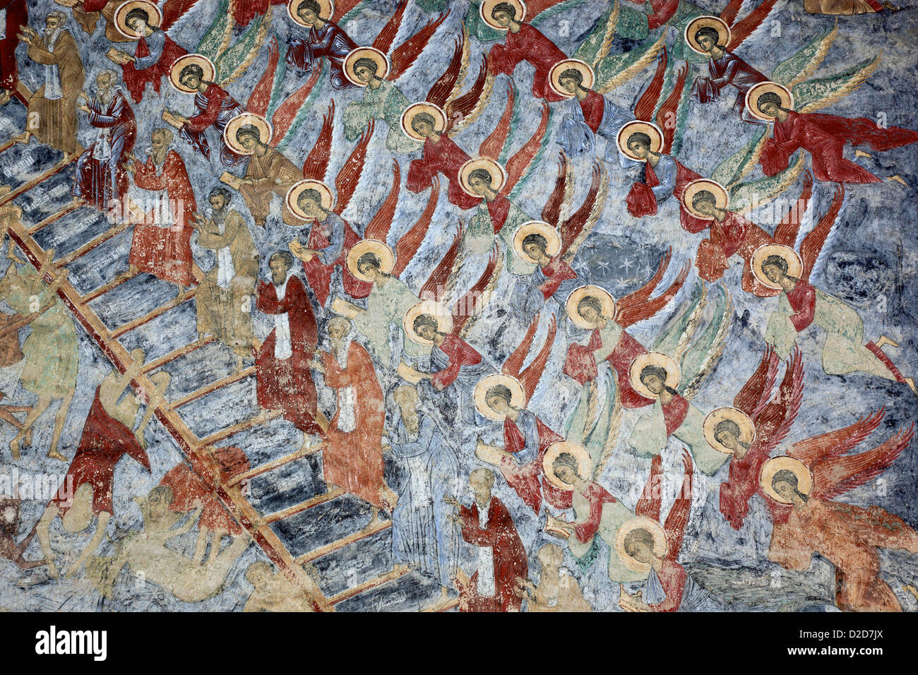 Wallpainting Jacobs Ladder Heaven Sucevita Monastery Is An Eastern Orthodox Convent Situated In