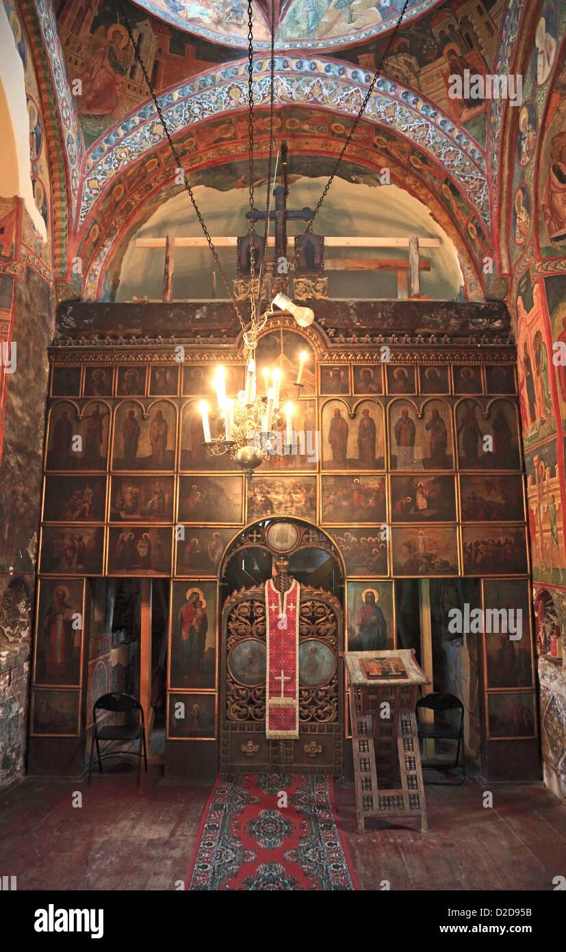 the church of Patrauti near Suceava is the smallest church built by Stephan the Great, Moldavia cloisters, Bukovina, - Stock Image
