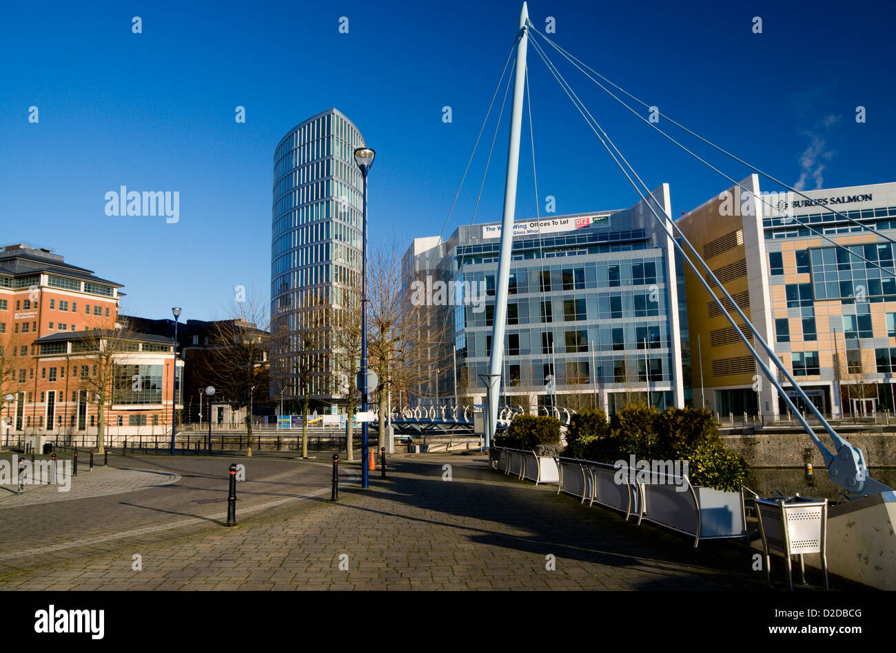 the eye tower temple quay bristol england - Stock Image