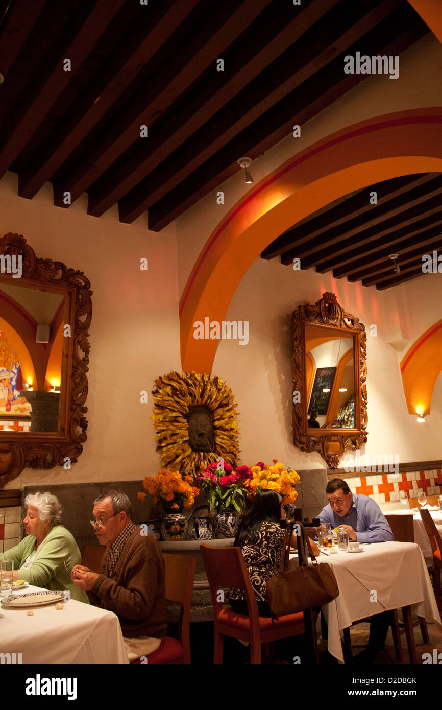 El Mural De Los Poblanos Restaurant In Puebla Mexico Stock Photo