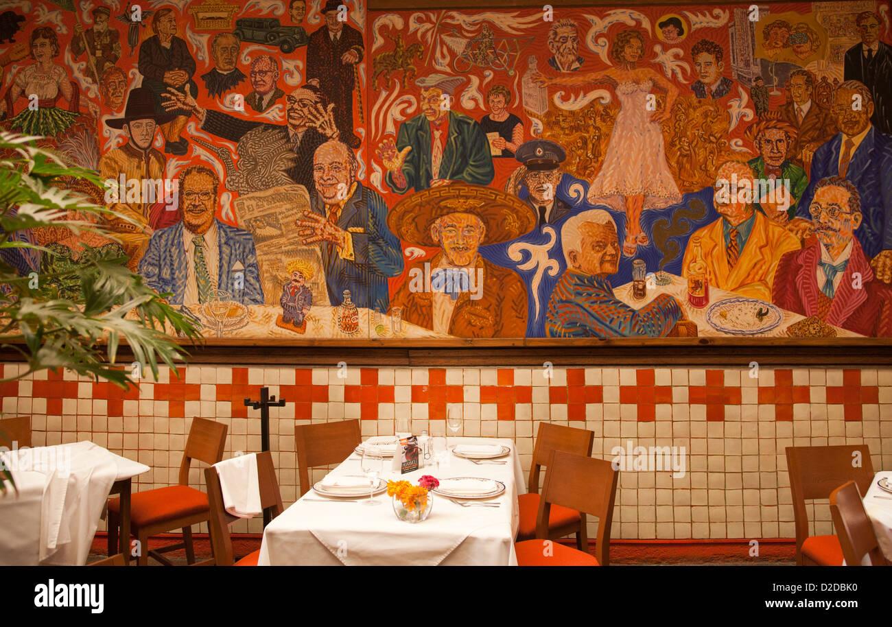 El Mural De Los Poblanos Restaurant Large Mural Painting In